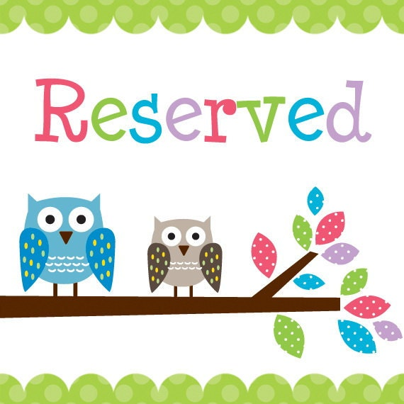 Reserved Listing for andrealynn