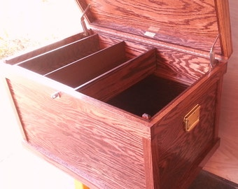 """Classic Hardwood Tack Trunk Custom Show Trunk English or Western red mahogany stain 32 1/2"""" x 20 1/2"""" x 20 1/2"""""""