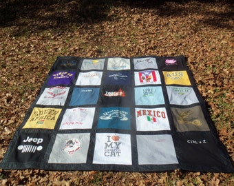 Think Father's Day Custom Memory Tshirt Quilt with your own Tshirts 20 Shirts