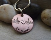 Swallows in Love keychain, Valentine's gift, couple keychain, Girlfriend gift, Spouse Gift, 7th anniversary gift