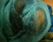 Romney Roving 8 oz.-Peacock's Feathers