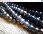 "Groundhog Sale Fabulous Cultured Freshwater Pearls - Large Hole - Peacock - 8"" Strand - 9mm"