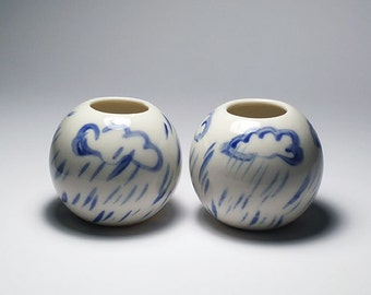 Rainy Day Vases - Set of 2 - SALE