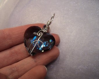 Crystal Hearts - Wire Wrapped