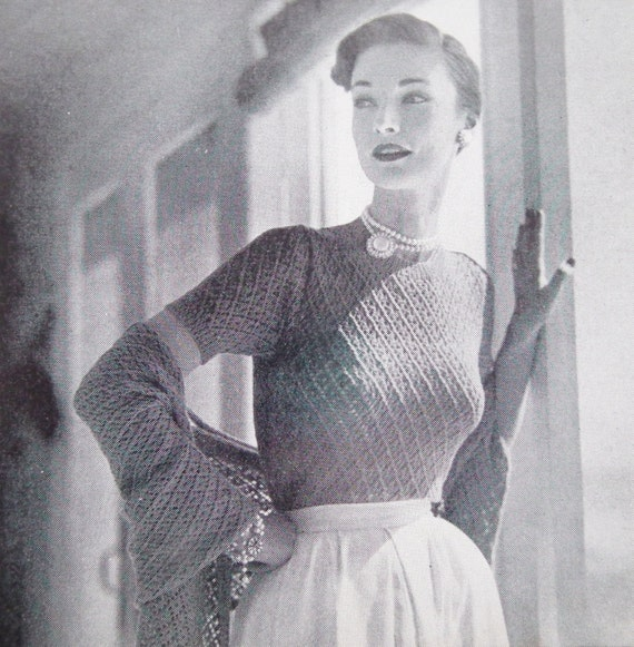 Vogue Vintage Knitting Patterns : Vogue Knitting Patterns Book Vintage 1950s by sewmuchfrippery