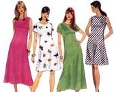 Misses Bias Dress Pattern - Womens Dress Sewing Pattern - McCalls 8238 - Uncut, Factory Folds