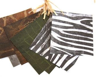 Handmade Paper Tags in Animal Print, Animal Print Tags, Gift Tags