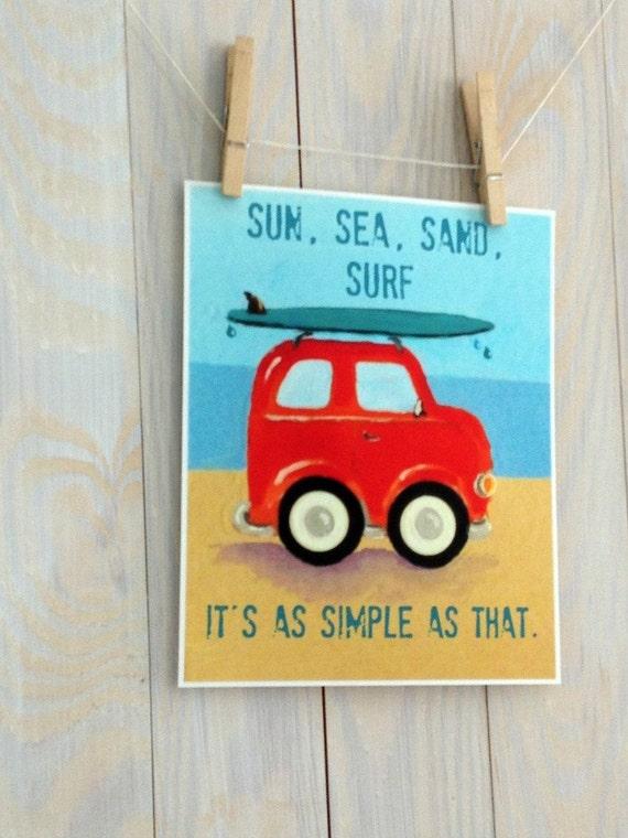 Items similar to children nursery decor surf art for Surf nursery ideas