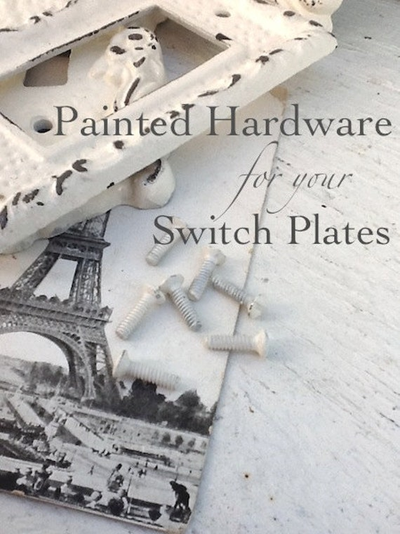 Hardware, Screws for Switch Plates, Switch Plate Hardware, Painted Screws, Set of 2