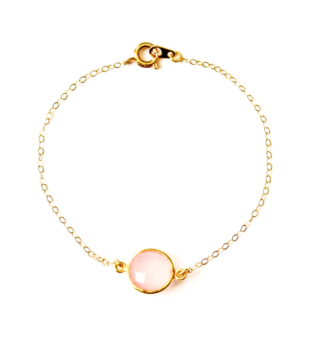 dainty gold bracelet delicate gold jewelry pink bridesmaid