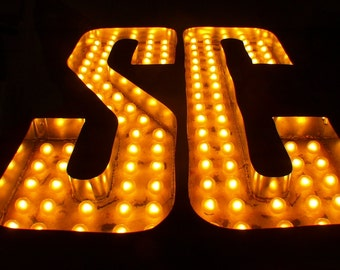 Marquee Letter Large Huge Movie 112 Bulbs No Nobody Messes with TX SC
