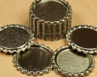 200 Flattened Silver Bottle Caps (03-04-220)