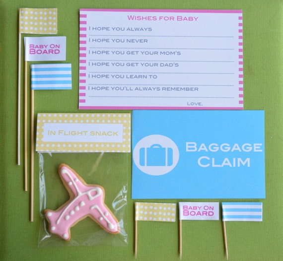 items similar to travel theme baby shower party kit for 20 guests on