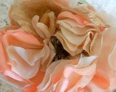 1  Hold for Celine 1920's Peachy Pink Flower