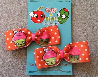 Zombie Cupcake Bows