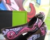 Custom High Heels With Graffiti Art