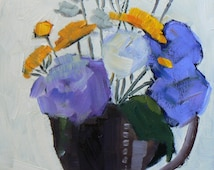 """Floral Still Life Painting, Flower Painting, """"The Beauty in Life"""" 6x8 OOAK, Daily Painting, Sale oil painting"""
