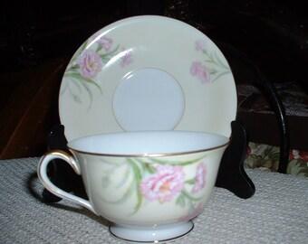 Vintage Noritake Japan Mystery 1 Carnation Cup & Saucer
