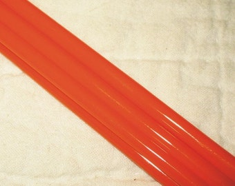 Intense Tangerine ((V-939) coe Lampworking Glass Rods - quarter pound