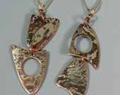 Mixed Shape Earrings  Mokume-Gane
