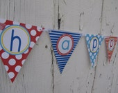 Pool Theme Happy Birthday Bunting Banner - You Choose The Colors