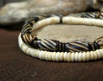Bracelet for Men, Bone Bracelet, Beaded Bracelet, Mens Jewelry, Native American, Tribal Bracelet, Mens Bracelet, Stack Bracelets