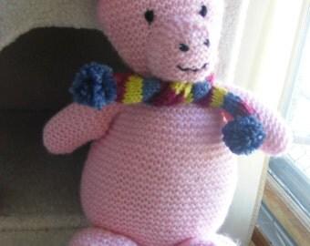 Knitted Poppy Pig Softie