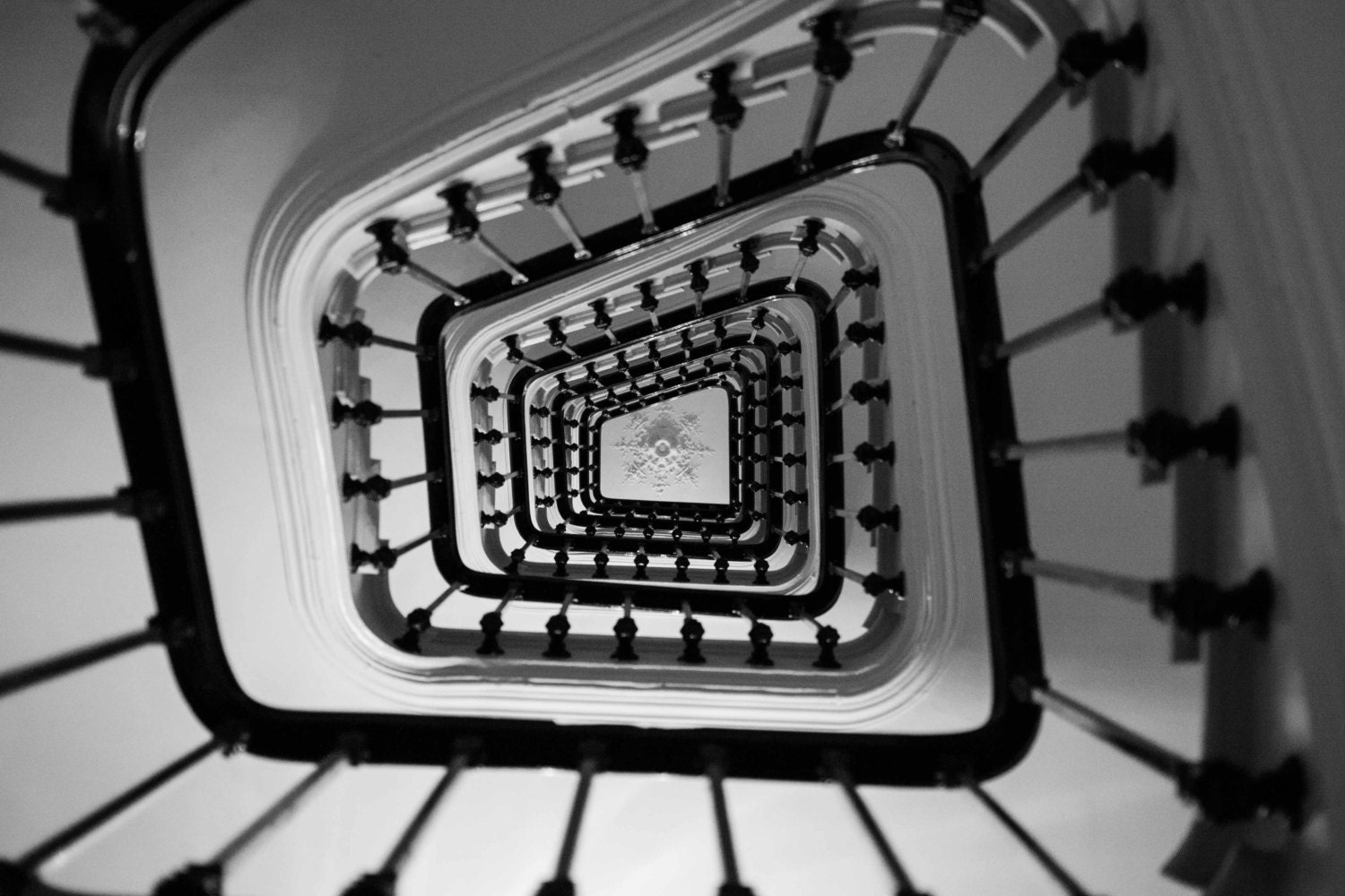 Black And White Photography Wall Art paris photography - paris apartment stairs, black and white