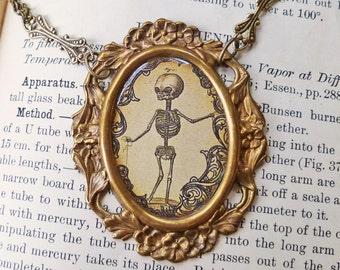 Skeleton Medical Illustration Necklace