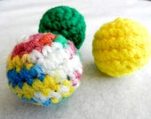 Cat Toy - Small Catnip Rattle Balls - Set of 3