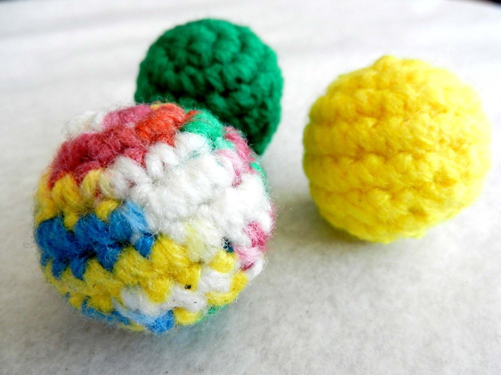 Cat Toys Balls : Catnip ball cat toy small rattle balls set of