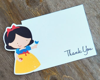 Princess Party - Set of 8 Snow White Thank You Cards by The Birthday House