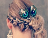Peacock Wedding Hairpieces, Bridesmaid Hairpieces set of 7, Bridesmaid Hair Accessories BRILLIANT