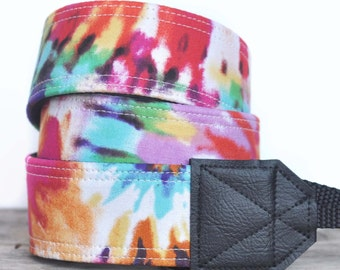 MADE TO ORDER - Camera Strap - Tie-Dye