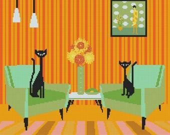 Cat Cross Stitch Kit By Kerry Beary counted Cat Cross Stitch Kit