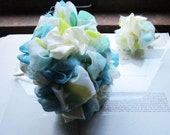 Vintage Fabric Flower Bouquet