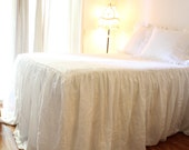 IRIS....SKIRTED COVERLET..100% linen