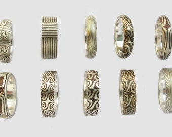 Special Mokume gane ring Size 7 Other sizes may be available