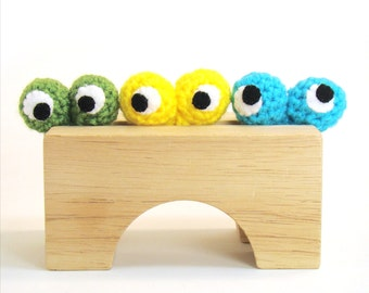 Googly Eyes Ring Finger Puppet Crochet Pattern PDF INSTANT DOWNLOAD