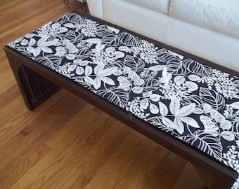 Table Runner ~ Black & White Fern Table Runner ~ Botanical Fern