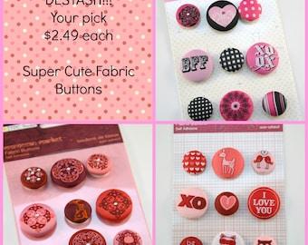 Fabric Buttons Destash One Dollar