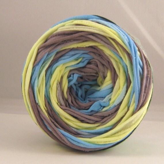 T shirt yarn neon yellow gray aqua 60 yards chunky yarn for T shirt printing st charles mo