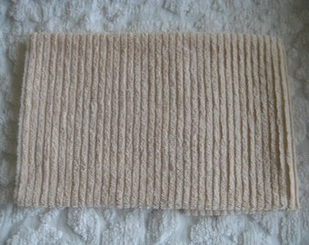Light Peach Ribbed Vintage Chenille piece