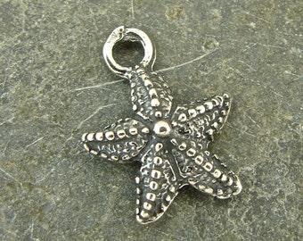 Lovely Little Starfish - Sterling Silver Charm - One Piece - cllsf