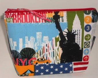 I Love New York  Make Up / Storage / Coin / Cell Phone Bag