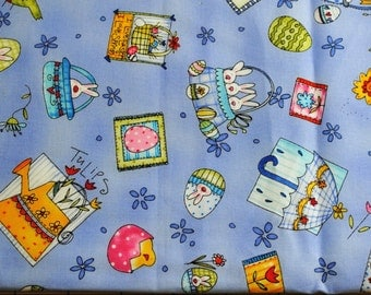 Fat Quarter OOP HTF Spring into Easter Fabric