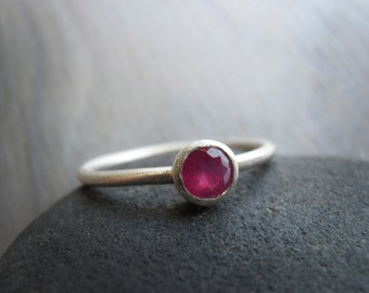 Ruby ring, Mother's day Ring, Classic 4mm genuine Ruby Ring,  July birthstone Ring, Statement Ring