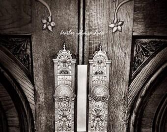 Temple Doors 8x8 Vintage Photo