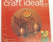 Vintage Decorating and Craft Ideas Made Easy magazine, October 1972,crafting magazine,decorating,crafting