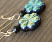 Blackened Bloom earrings